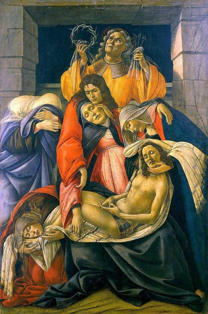 Оплакивание Христа   Сандро Боттичелли