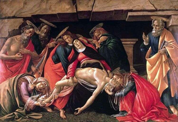 Положение во гроб   Сандро Боттичелли