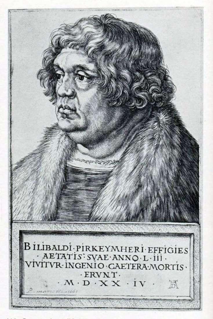 Портрет Виллибальда Пиркгеймера   Альбрехт Дюрер