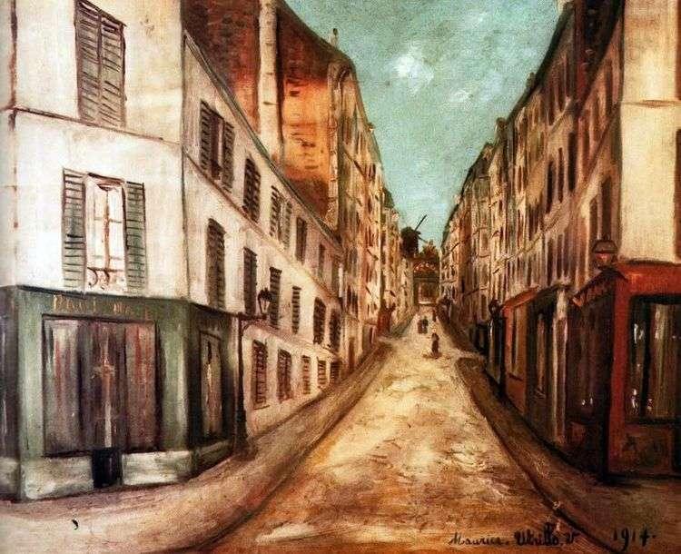 Парижская улица   Морис Утрилло