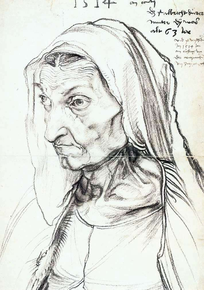 Портрет матери   Альбрехт Дюрер