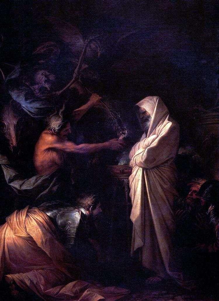 Дух Самуила, призванный к Саулу волшебницей из Аэндора   Сальваторе Роза