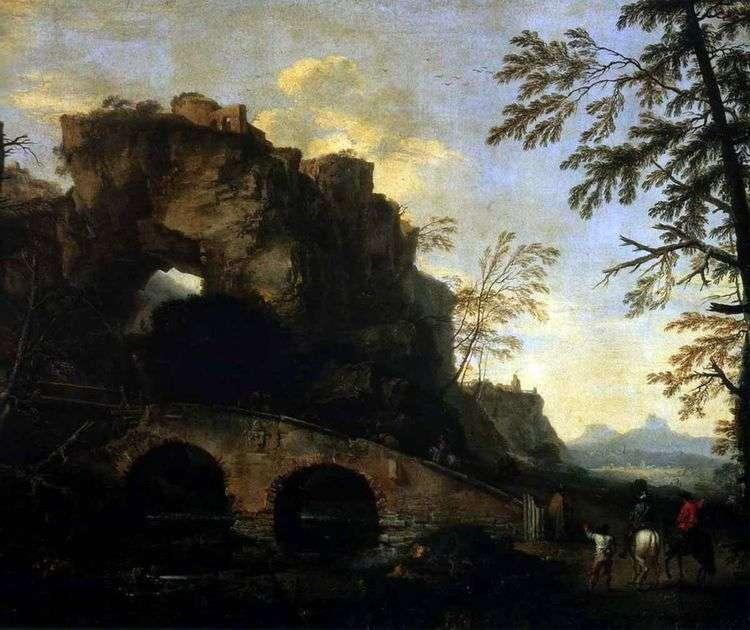 Пейзаж с разрушенным мостом   Роза Сальваторе