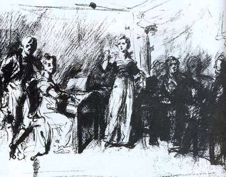Домашний концерт   Василий Тропинин