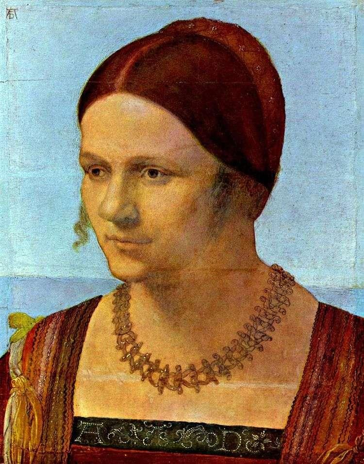 Портрет молодой женщины   Альбрехт Дюрер