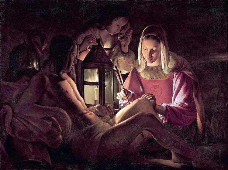 Св. Себастьян и святые жены   Жорж де Ла Тур