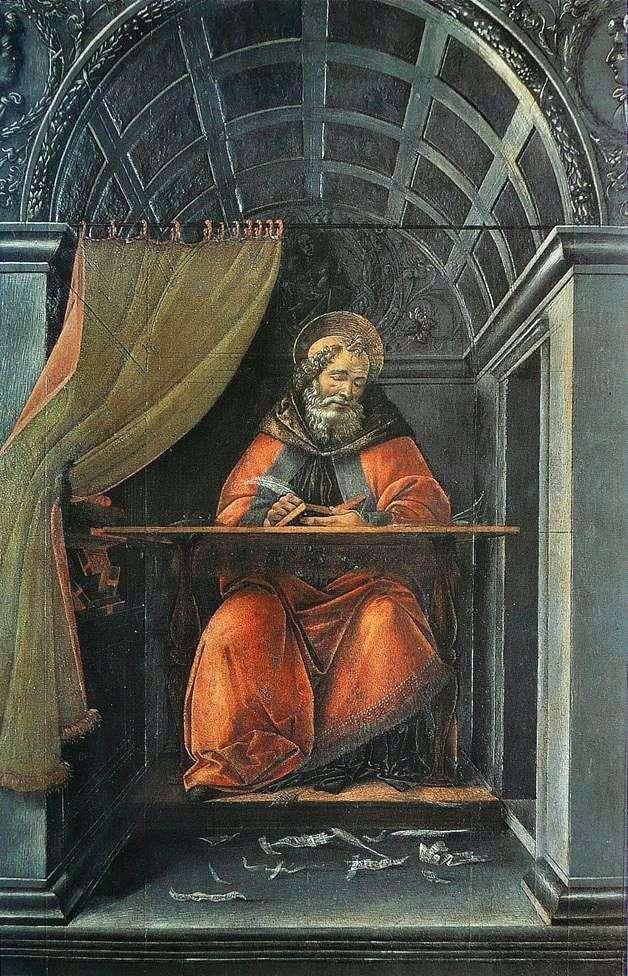 Святой Августин, пишущий в своей келье   Сандро Боттичелли