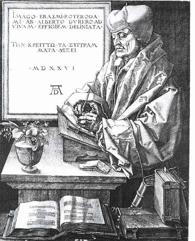Портрет Эразма Роттердамского   Альбрехт Дюрер