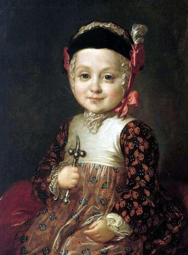 Портрет А. Г. Бобринского в детстве   Федор Рокотов
