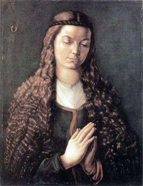 Портрет юной девушки с распущенными волосами   Альбрехт Дюрер
