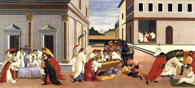 Три чуда святого Зиновия   Сандро Боттичелли