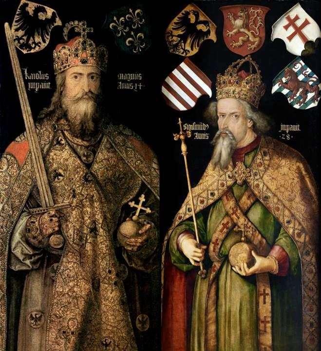 Портреты императоров Карла и Сигизмунда   Альбрехт Дюрер