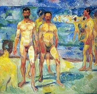 Мужчины на пляже   Эдвард Мунк