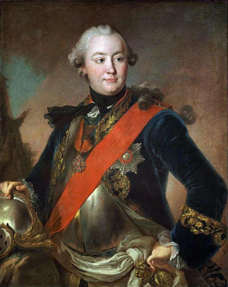 Портрет графа Г. Г. Орлова в латах   Федор Рокотов
