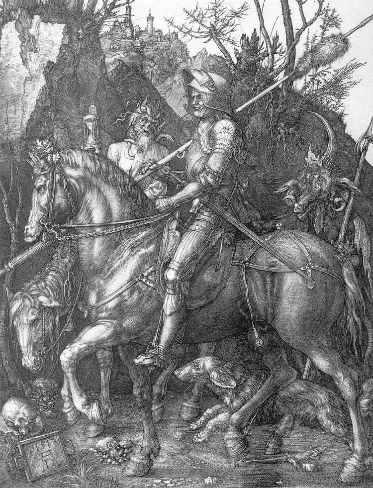 Рыцарь, смерть и дьявол   Альбрехт Дюрер