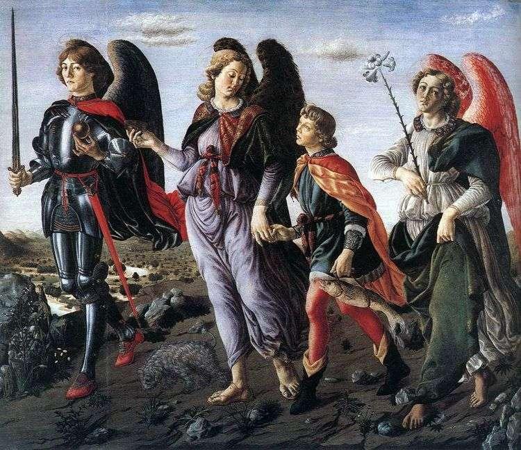 Три Архангела с Товием   Франческо Боттичини