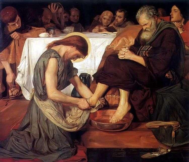 Иисус омывающий ноги Петру   Форд Мэдоксон Браун