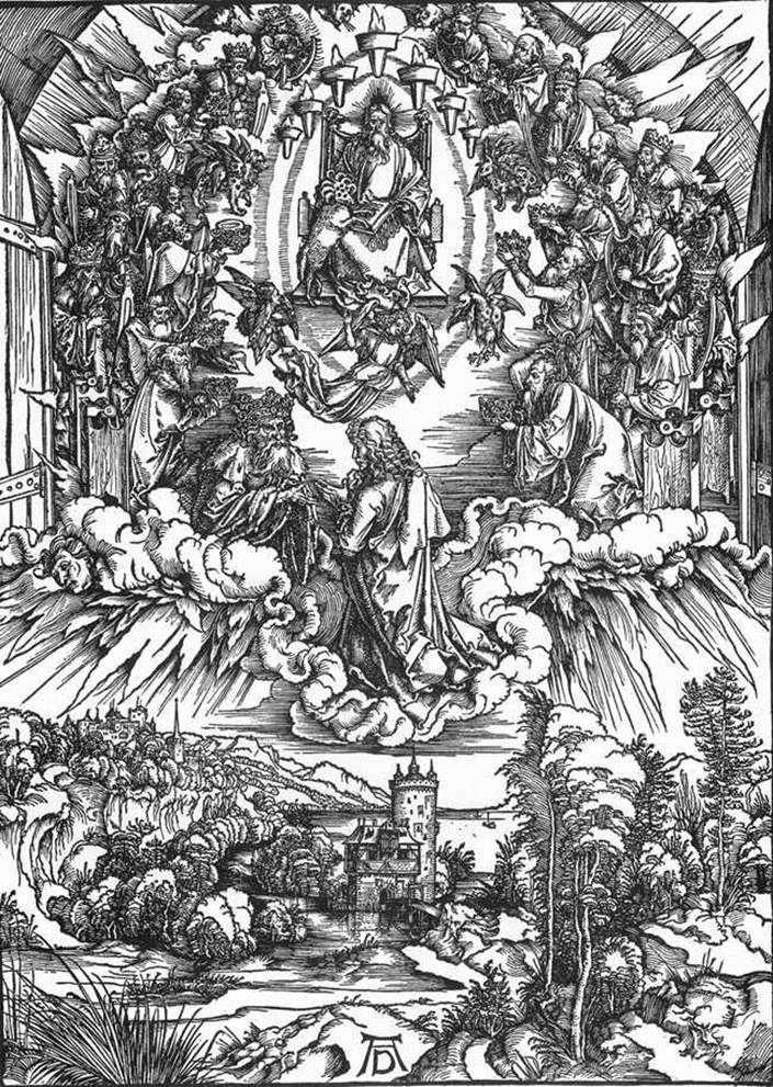 Святой Иоанн и двадцать четыре старца   Альбрехт Дюрер