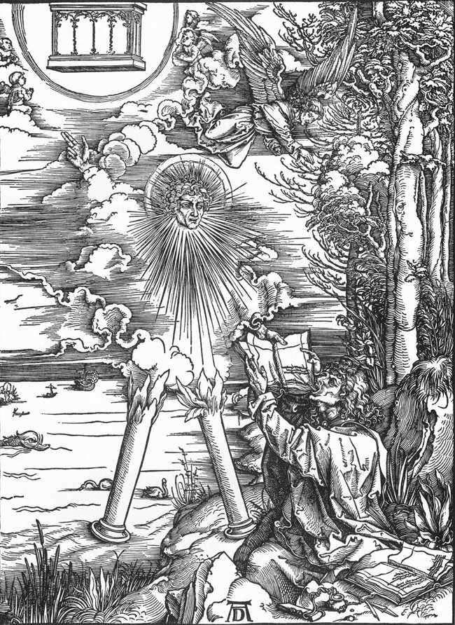 Святой Иоанн получает книгу Откровений   Альбрехт Дюрер