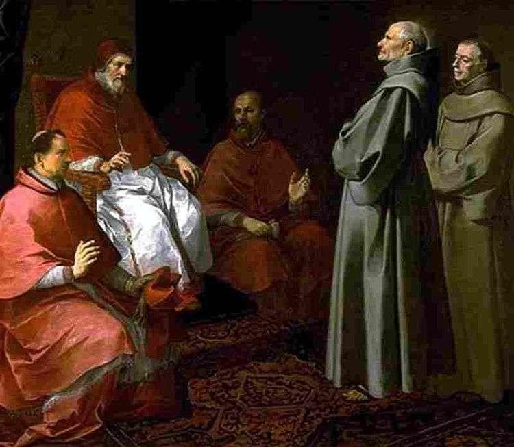 Блаженный Жиль перед Григорием IX   Бартоломео Эстебан Мурильо