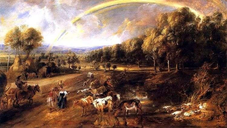 Пейзаж с радугой   Питер Рубенс