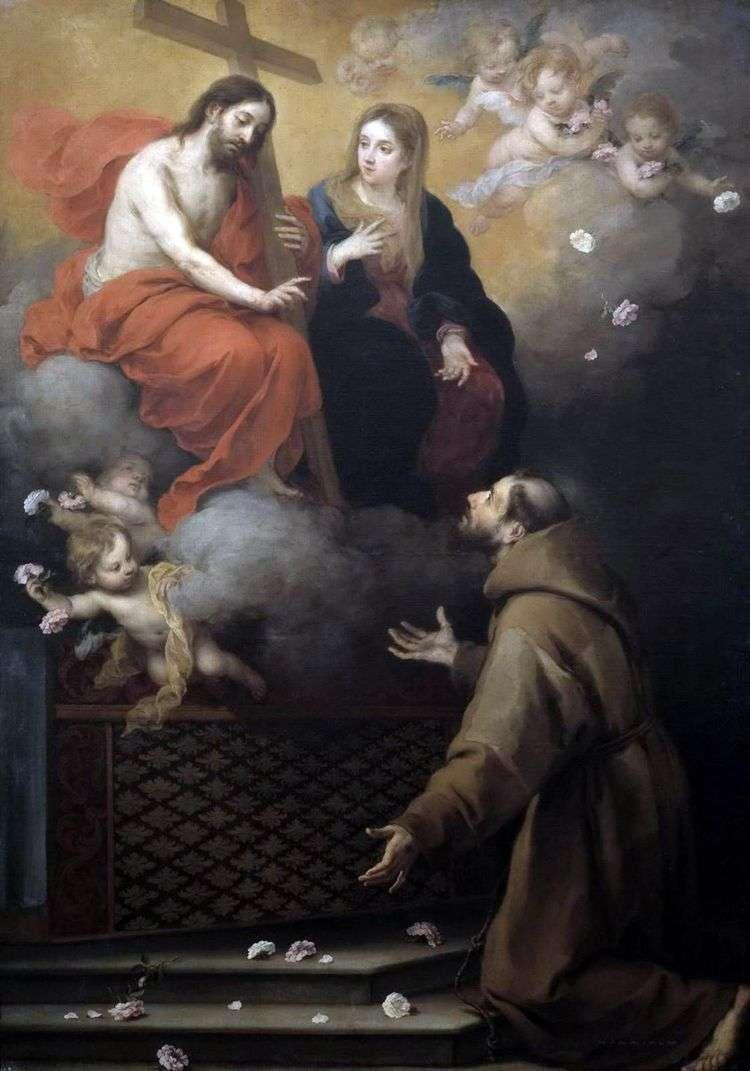 Видение Св. Франциску   Бартоломео Эстебан Мурильо