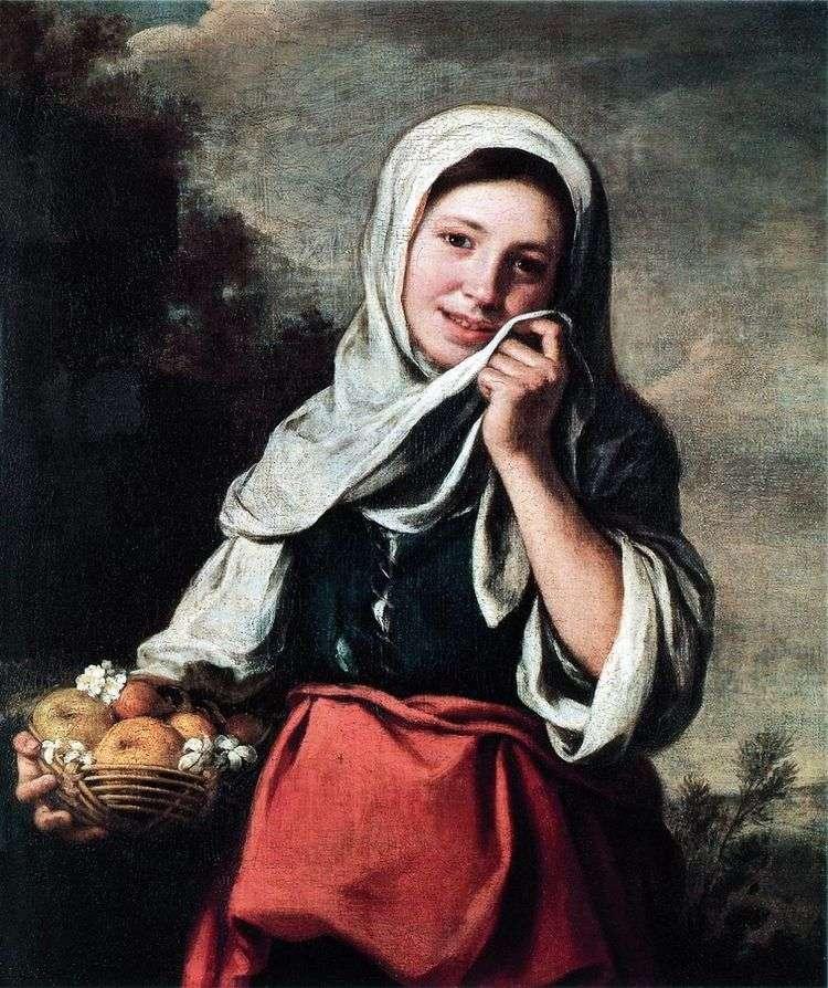 Девочка продавщица фруктов   Бартоломе Эстебан Мурильо
