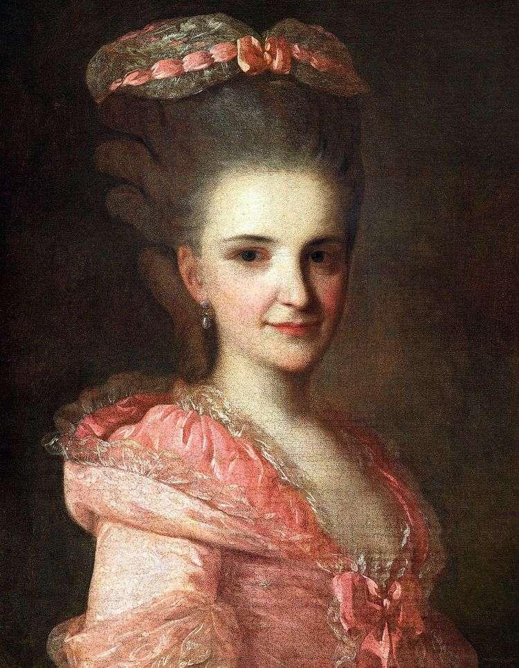 Портрет неизвестной в розовом платье   Федор Рокотов
