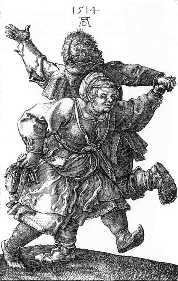 Танцующие крестьяне   Альбрехт Дюрер
