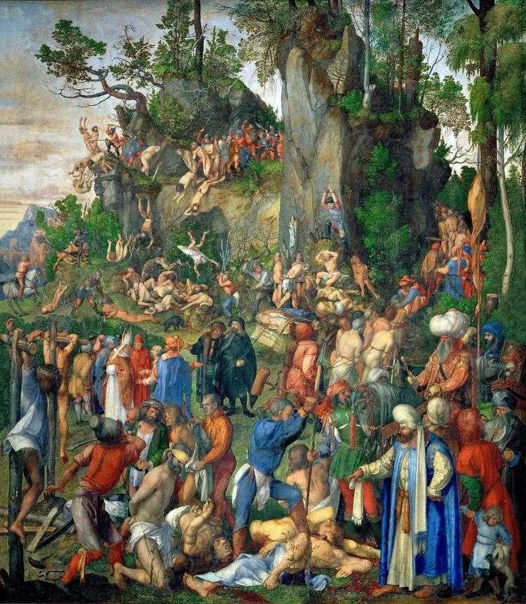 Умерщвление десяти тысяч христиан   Альбрехт Дюрер