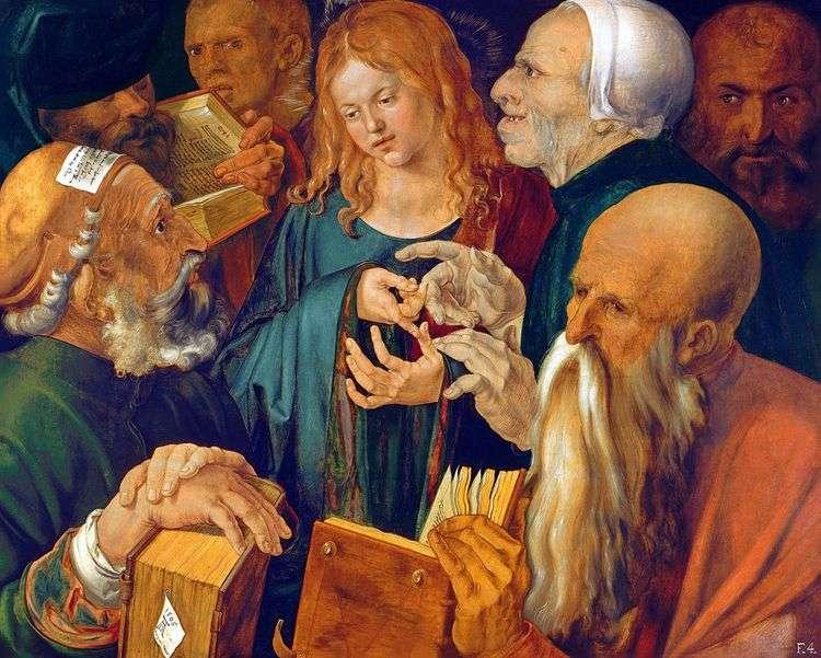 Христос среди книжников   Альбрехт Дюрер