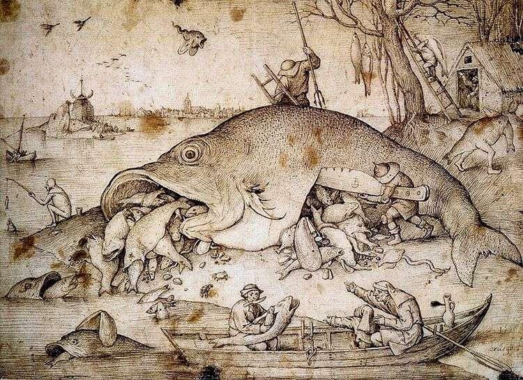 Большие рыбы поедают малых   Питер Брейгель