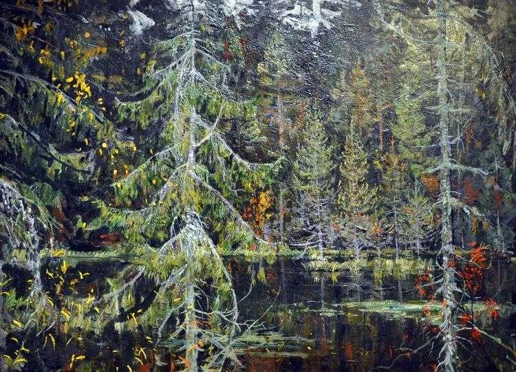 Лесное озеро   Николай Ромадин