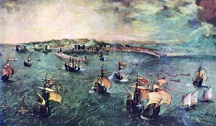 Военно морское cражение в заливе Неаполя   Питер Брейгель