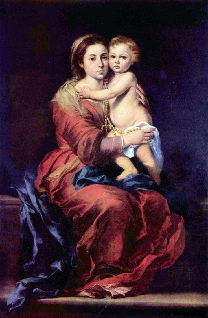 Мадонна с четками   Бартоломе Эстебан Мурильо