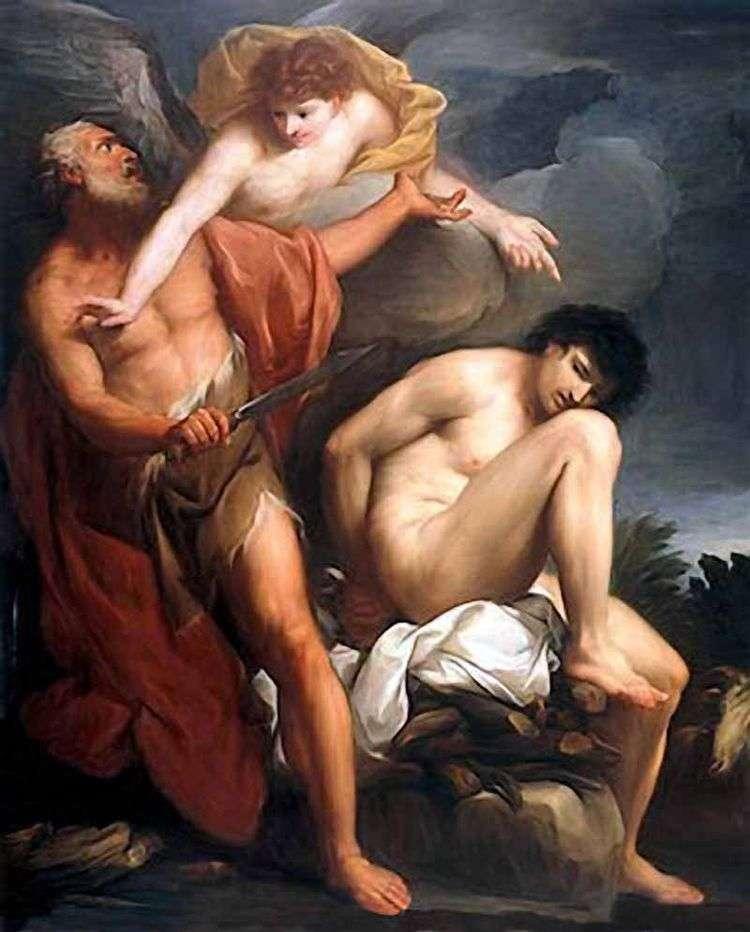 Авраам приносящий в жертву Исаака   Григорио Лаццарини