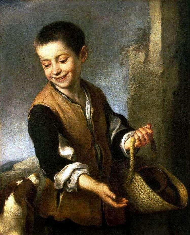 Мальчик с собакой   Бартоломе Эстебан Мурильо