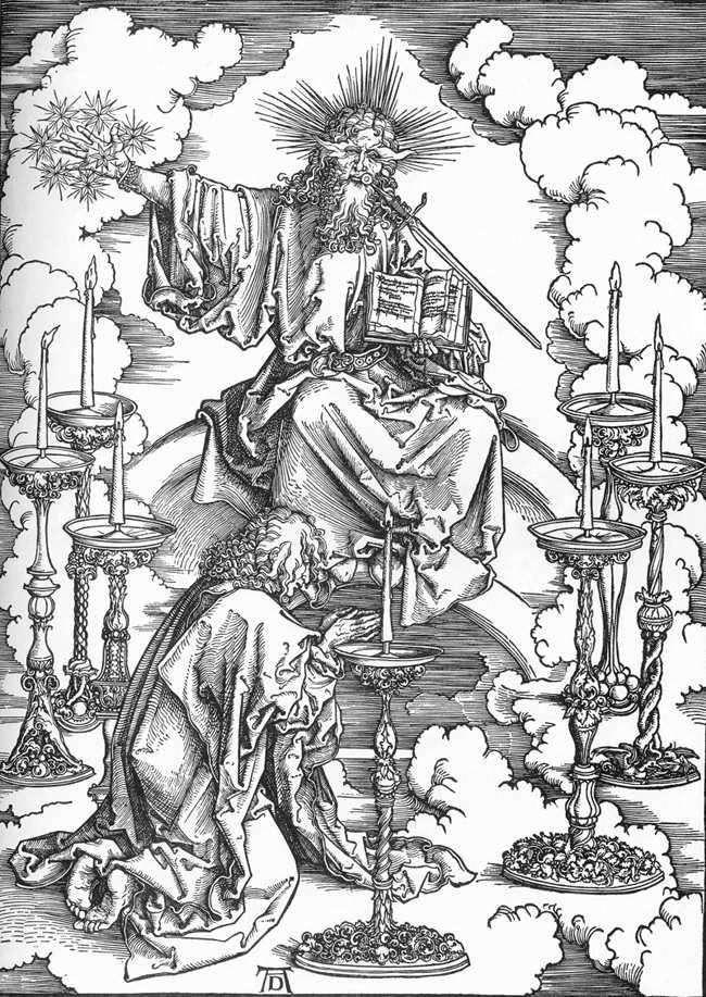 Явление Иоанну Христа и сути семи церквей   Альбрехт Дюрер