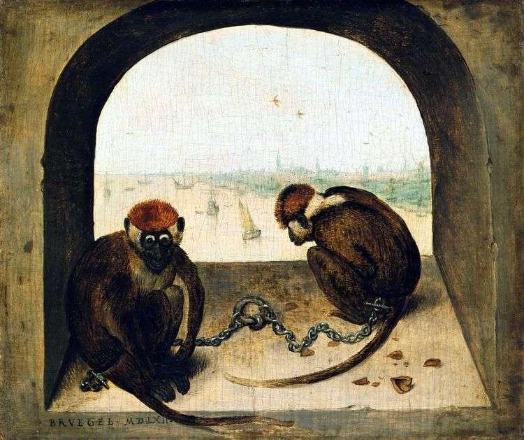 Две обезьяны   Питер Брейгель