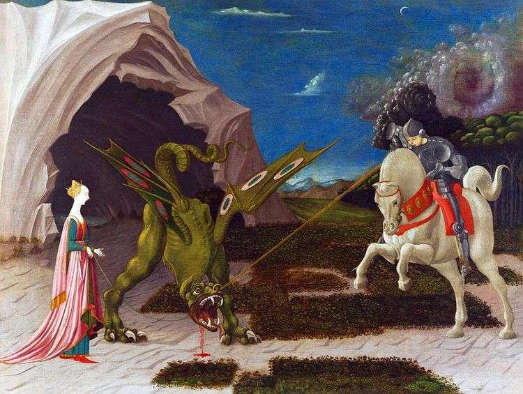 Битва святого Георгия с драконом   Паоло Уччелло