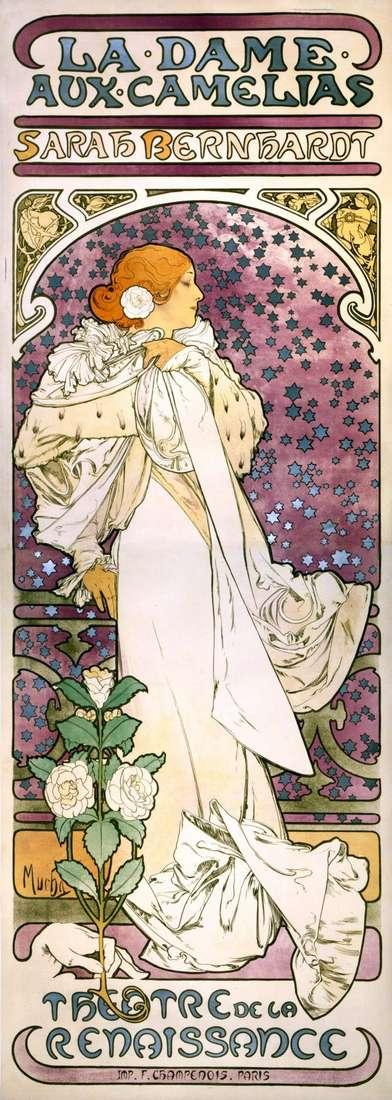 Дама с камелиями   Альфонс Муха
