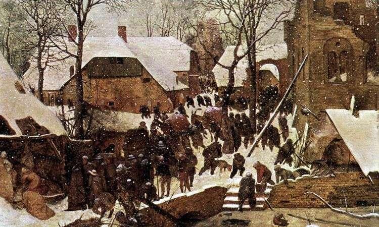 Поклонение волхвов в зимнем пейзаже   Питер Брейгель