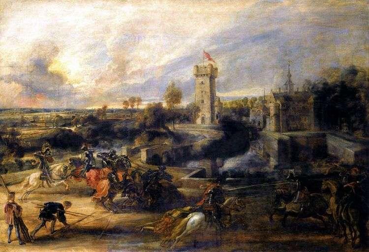 Поединок перед замком Стэн   Питер Рубенс