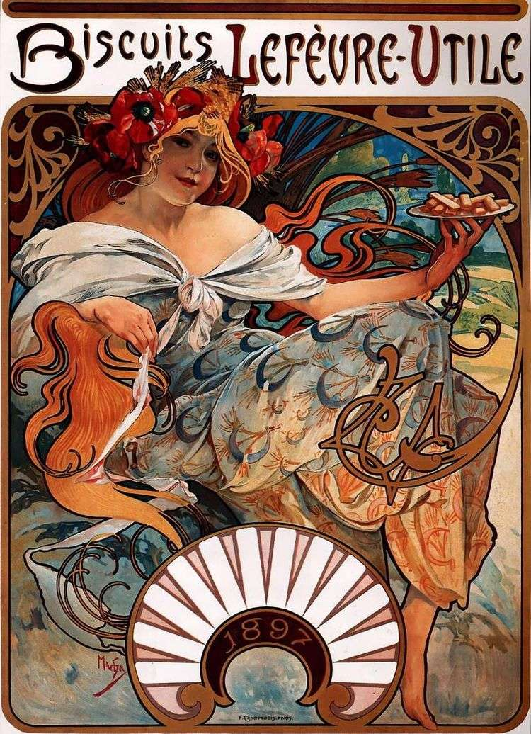 Рекламный плакат   Альфонс Муха