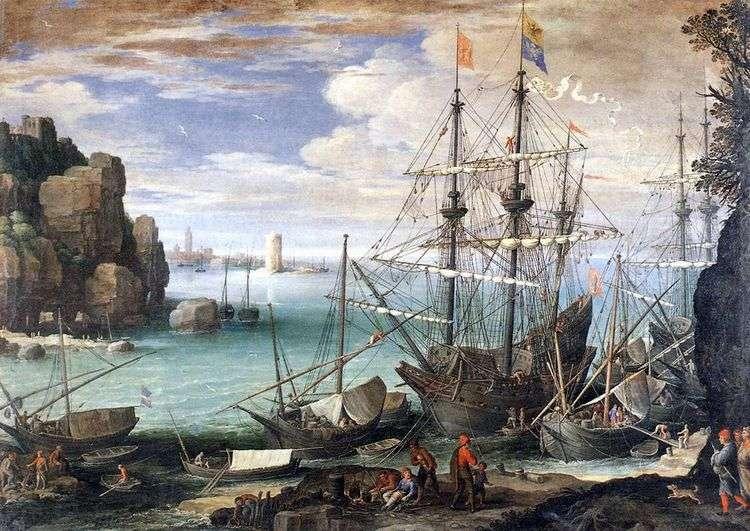 Вид порта   Пауль Бриль