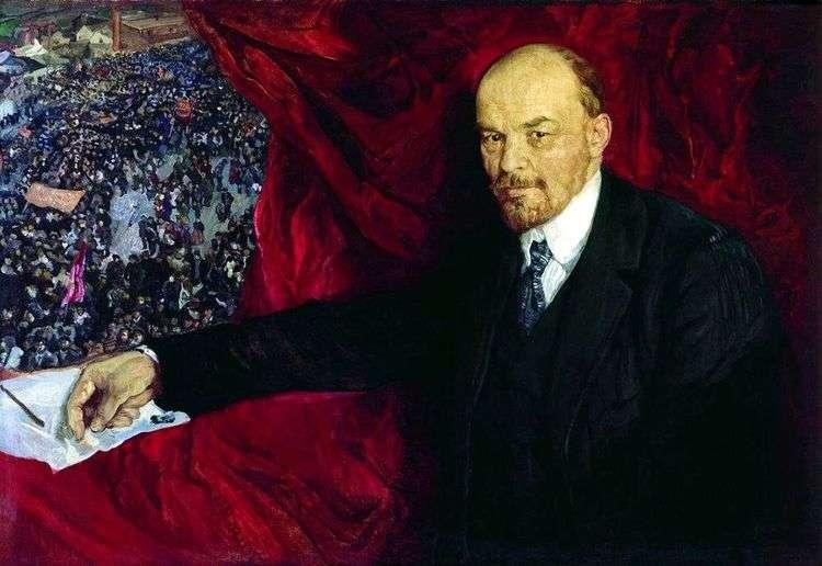 Ленин и манифестация   Исаак Бродский