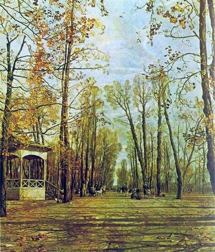 Летний сад осенью   Исаак Бродский