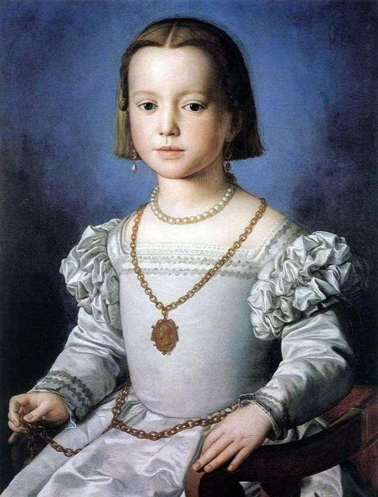 Портрет Биа Медичи, дочери Козимо I   Аньоло Бронзино