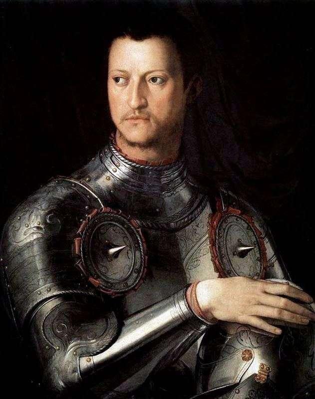 Портрет Козимо Первого Медичи в латах   Аньоло Бронзино