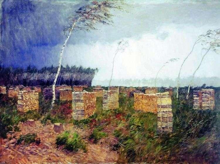 Буря. Дождь   Исаак Левитан